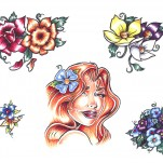 Флэши - Flowers 1 TattooReal.ru image 10