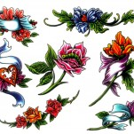 Флэши - Flowers 1 TattooReal.ru image 101