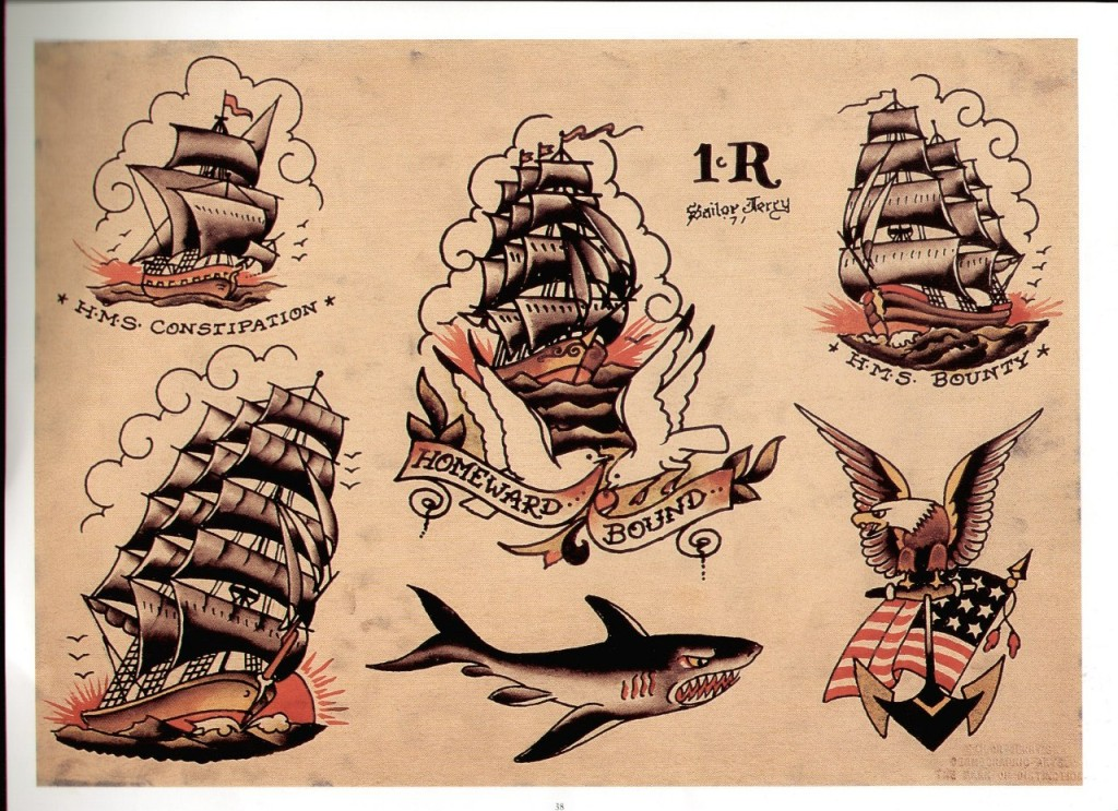 Traditional navy tattoos