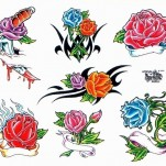 Флэши - Flowers 1 TattooReal.ru image 12