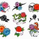 Флэши - Flowers 1 TattooReal.ru image 14