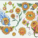 Флэши - Flowers 1 TattooReal.ru image 19
