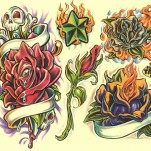 Флэши - Flowers 1 TattooReal.ru image 46