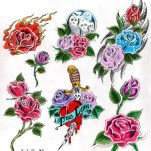 Флэши - Flowers 3 TattooReal.ru image 89