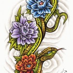 Флэши - Flowers 3 TattooReal.ru image 21