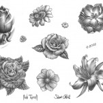 Флэши - Flowers 3 TattooReal.ru image 39