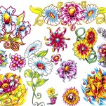 Флэши - Flowers 3 TattooReal.ru image 59