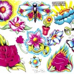 Флэши - Flowers 3 TattooReal.ru image 57