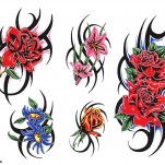 Флэши - Flowers 1 TattooReal.ru image 78
