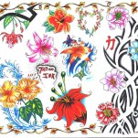 Флэши - Flowers 3 TattooReal.ru image 46