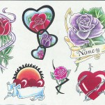 Флэши - Flowers 3 TattooReal.ru image 72