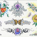 Флэши - Flowers 3 TattooReal.ru image 75