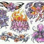 Флэши - Flowers 3 TattooReal.ru image 68