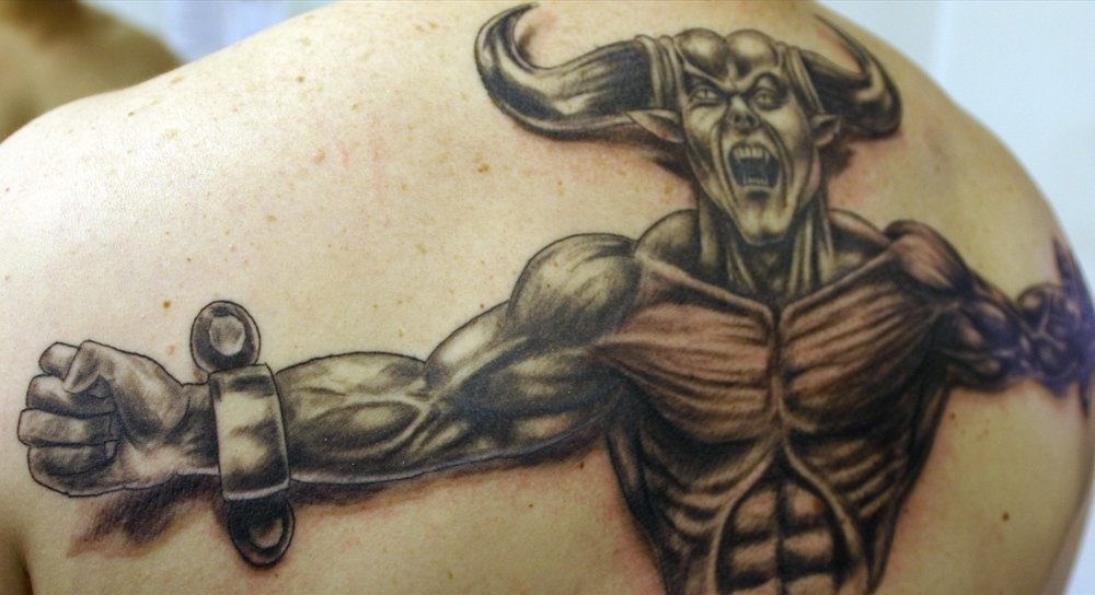 Demon-Tattoo-on-Back